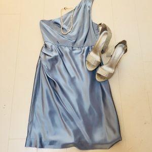One shoulder silk J Crew Dress